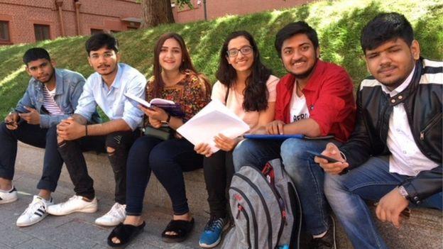 રશિયામાં ભારતીય વિદ્યાર્થીઓ