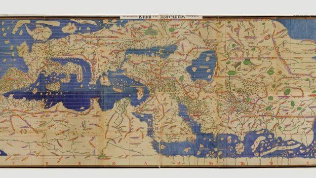 Mapa Tabula Rogeriana de Muhammad al Idrissi
