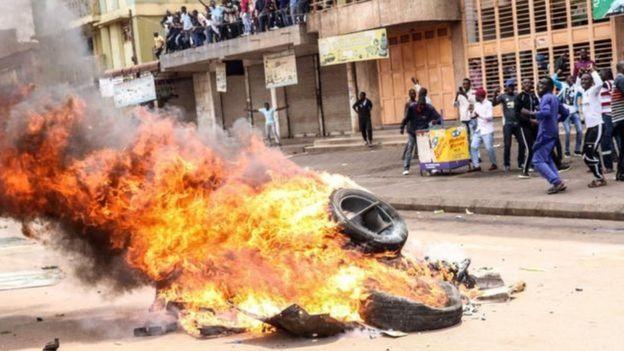 Abashyigikiye Bobi Wine bigaragambirije mu murwa mukuru Kampala mu cyumweru gishize