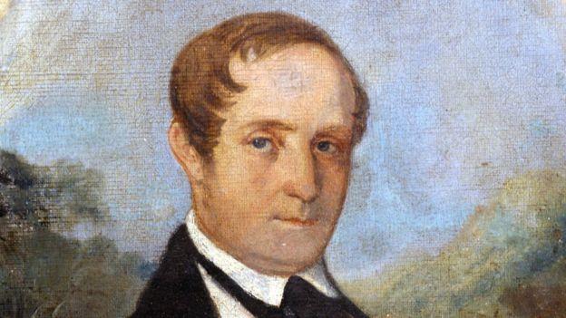 Pintura retratando o biólogo alemão Ludwig Riedel, que participou da expedição e acabou fundando a seção de botânica do Museu Nacional