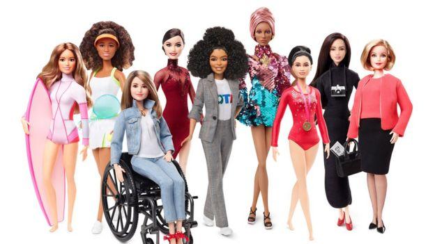 Line up of 2019 Shero dolls by Mattel
