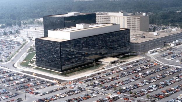 El cuartel general de la NSA en Fort Meade, Maryland.