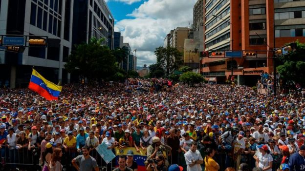 Desde 2017, no se registraba una concurrencia tan alta en las movilizaciones de la oposición.