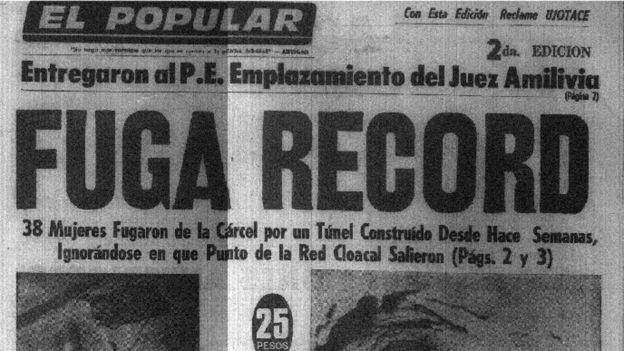La portada del diario El Popular, con la noticia que sorprendió a los uruguayos en julio de 1971.