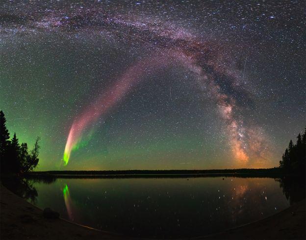 Aurora boreal Steve (Foto: Krista Trinder/NASA)