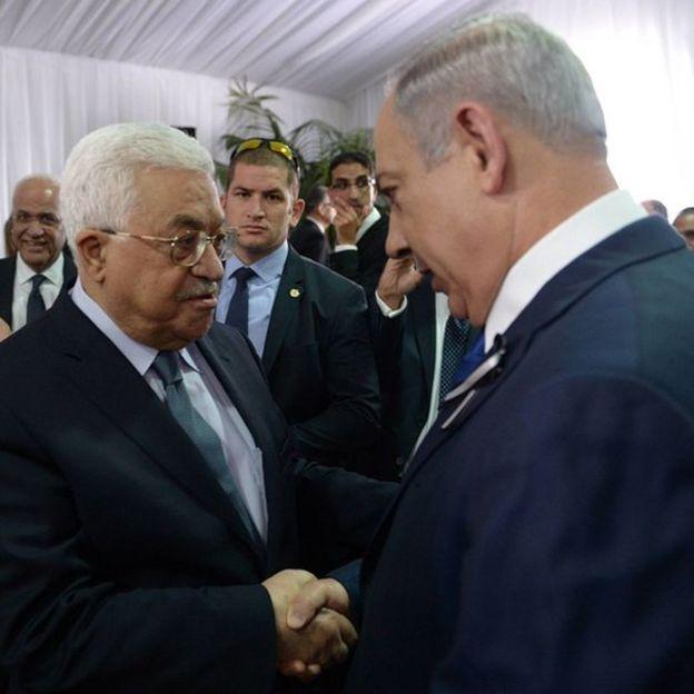 Mahmoud Abbas and Benjamin Netanyahu.