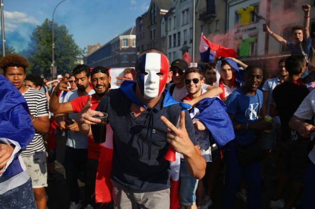Celebración en Amiens, Francia, de la victoria de la selección gala en el Mundial de Rusia.