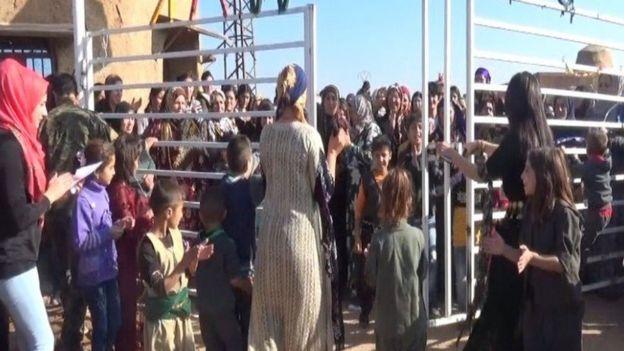 """افتتحت قرية """" جينوار"""" رسميا في اليوم العالمي لمناهضة العنف ضد المراة في 25نوفمبر/تشرين الثاني 2018 في منطقة الدرباسية، الحسكة، سوريا."""