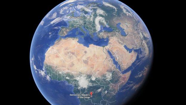 地球的地图