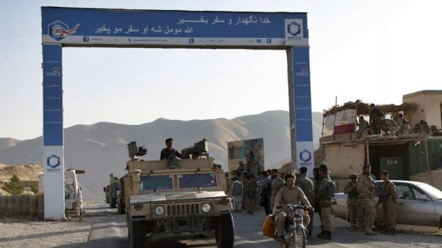Afghan security reinforcements from Kabul arrived in Kunduz on 30 September 2015