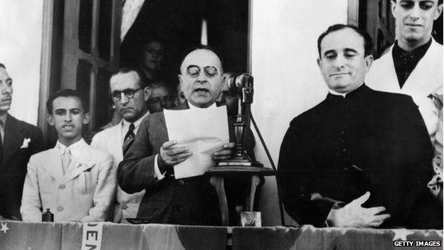 Former Brasillian dictator Getulio Vargas