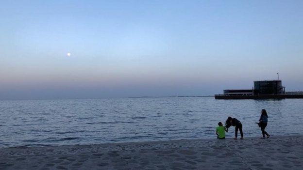 dəniz qum günəş, külək Xəzər dənizi Caspian Sea