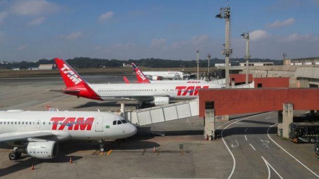 Aviones en Brasil.