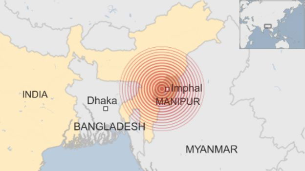 Earthquake Hits India S Manipur State Bbc News