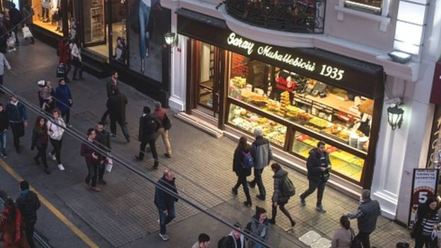 """Istanbul""""s famous Istiklal shopping street"""