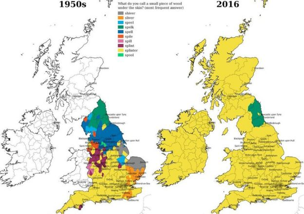 Southern Accents Replacing Dialects Language App Finds BBC News - Southern accents in the us map