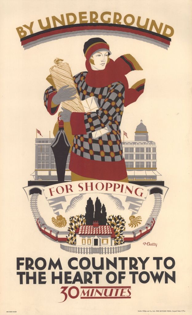 """By Underground, for Shopping"" poster"