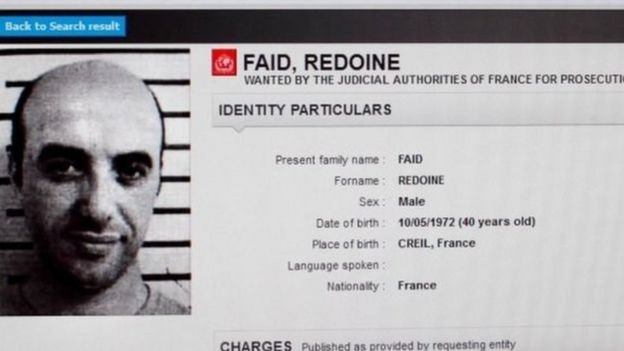 Redoine Faid bị đưa vào danh sách truy nã của Interpol sau cú vượt ngục năm 2013
