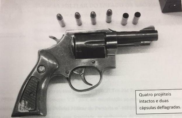 Revólver e munição
