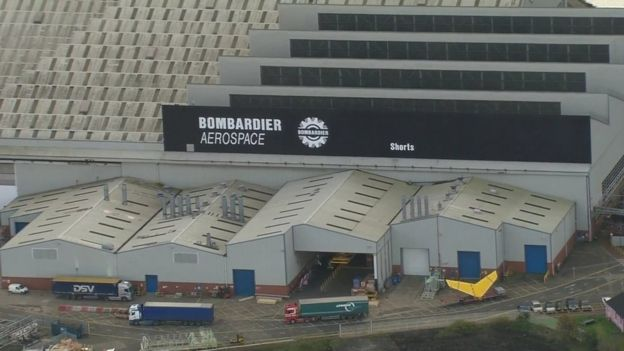 Bombardier aerospace site in Belfast