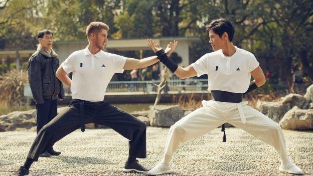 Ash Dykes doing martial arts
