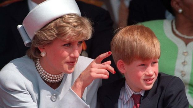 Diana, Princess of Wales and Prince Harry in 1995