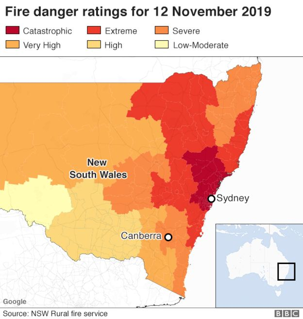 , Australia bushfires: New South Wales braces for 'catastrophic' day, Top Breaking News