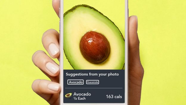 Screengrab of avocado on phone