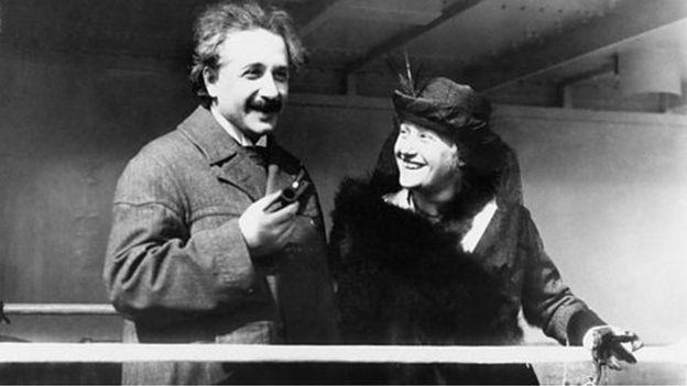 爱因斯坦夫妇,1921年