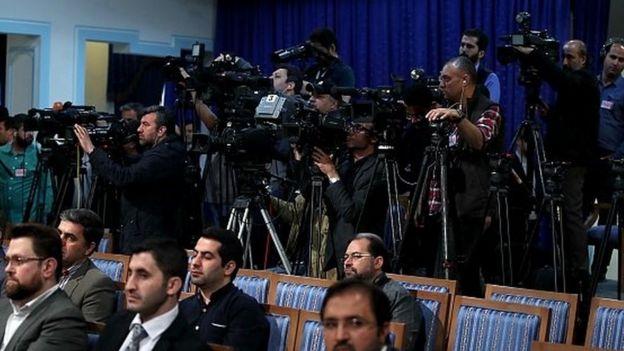 شرکتکنندگان در نشست خبری حسن روحانی