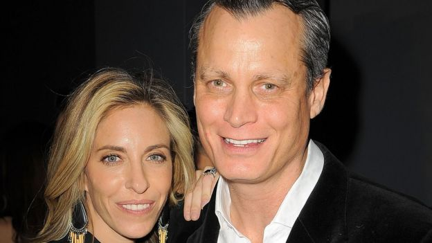 Nicole Hanley Mellon and Matthew Mellon at a 2015 New York City fashion show