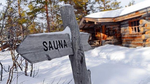 Sauna en hotel