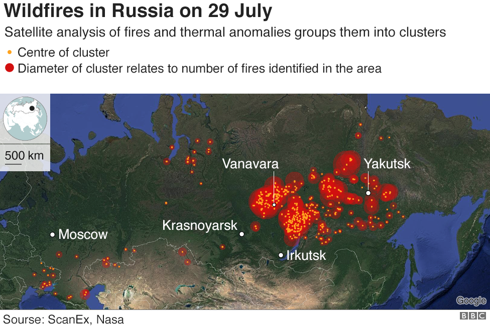 Russian army ordered to tackle mive wildfires - BBC News on tula russia on map, chechnya russia on map, simferopol russia on map, don river russia on map, volgograd russia on map, st. petersburg russia on map, rostov russia on map, novosibirsk russia on map, khakassia russia on map, bratsk russia on map, verkhoyansk russia on map, syktyvkar russia on map, oymyakon russia on map, vladivostok russia on map, belgorod russia on map, tallinn russia on map, kaliningrad russia on map, moscow russia on map, volga river russia on map, irkutsk russia on map,