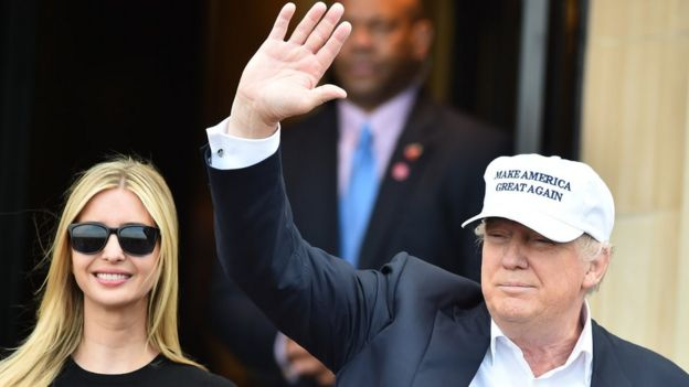 Tỷ phú Donald Trump và con gái Ivanka