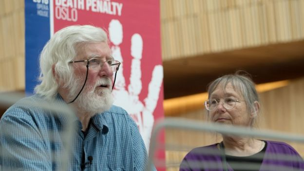 Peter Pringle and Sunny Jacobs have been around the world campaigning against the death penalty