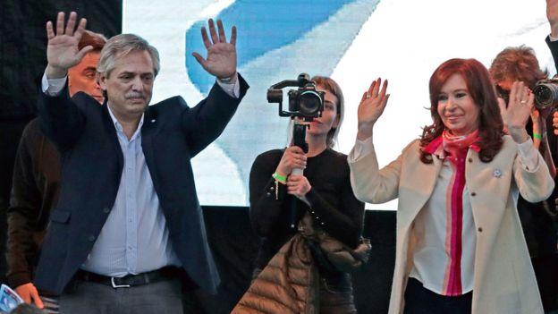 Alberto Fernández y Cristina Fernández de Kirchner en campaña