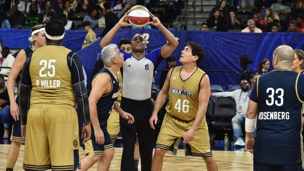 Mark Cuban playing in the 2017 NBA All-Star Celebrity Game