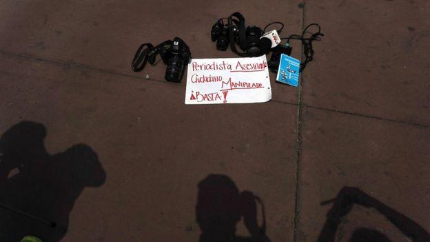 Protesta por la muerte de periodistas.
