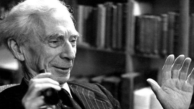 Retrado do filósofo Bertrand Russell
