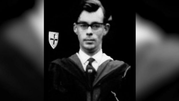 Roy Griffiths in his masters robe during his teaching days