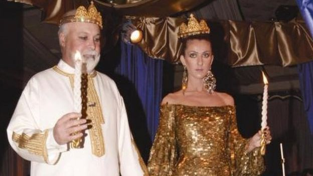 Inger Celine Dion And Husband Manager Rene Angelil Renew Their Wedding Vows During A Ceremony