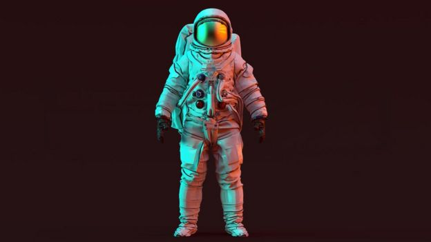 Ilustração de um astronauta