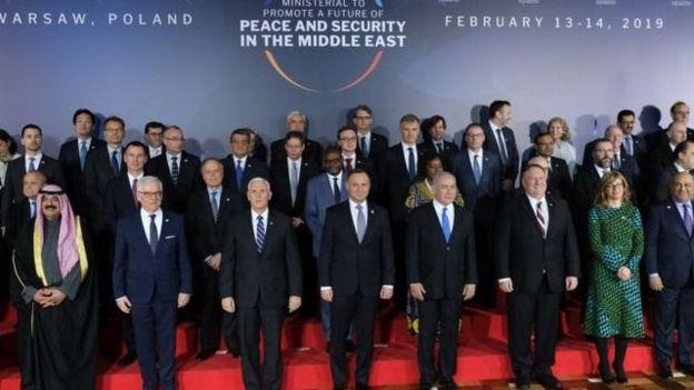 نشست امنیتی دو روزه ورشو با موضوع صلح و امنیت در خاورمیانه بدون دعوت از ایران برگزار شد