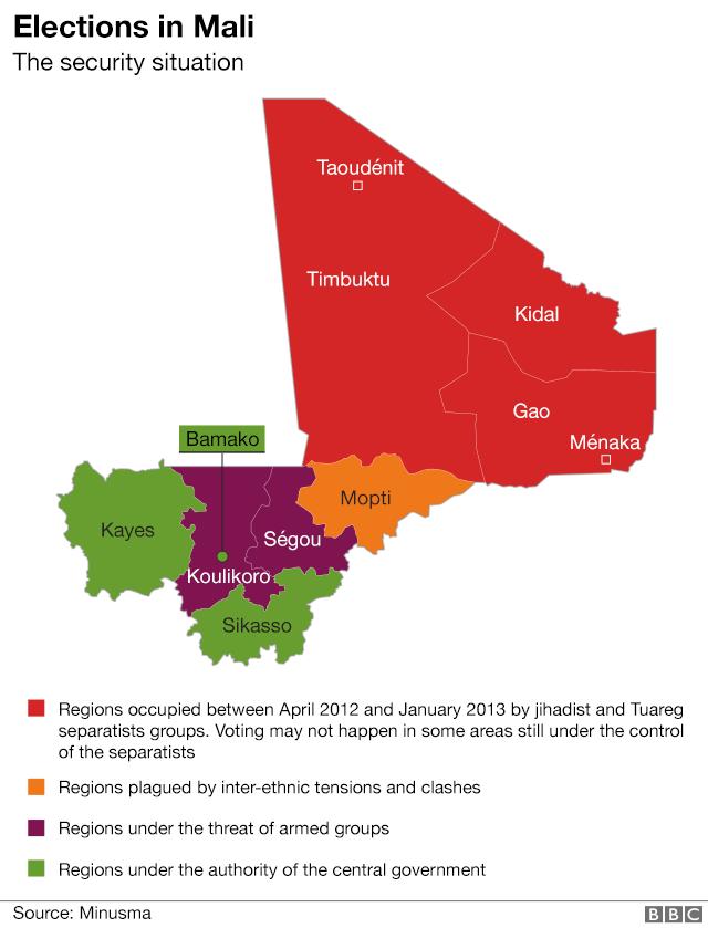 Mali control map