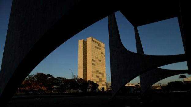 Prédio do Congresso visto a partir do Palácio do Planalto