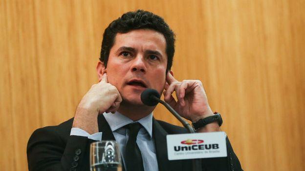 O entao juiz federal Sérgio Moro participa da palestra Democracia, Corrupção e Justiça: diálogos para um país melhor, no Centro Universitário de Brasília (UniCEUB), campus Asa Norte, em em 10 de agosto de 2016