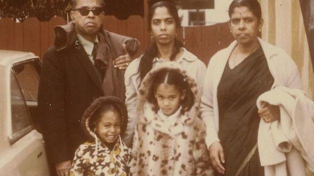 Foto da família Harris