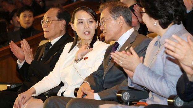 Kim Yo-jong disfrutó de un concierto en Seúl el pasado domingo junto al presidente surcoreano, Moon Jae-in.