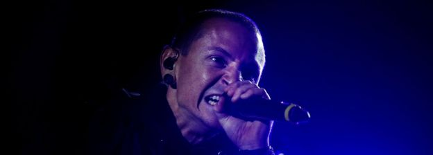 Chester Bennington at festival in Lisbon, Portugal in May 2012