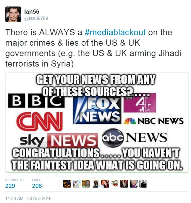 There is always a media blackout on the major crimes and lies of hte US and UK governments